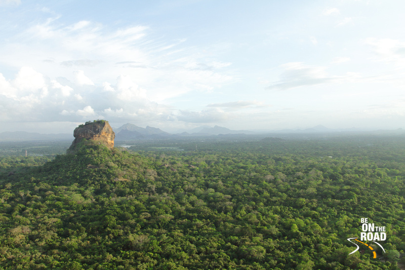 A Sigriya sunset view as seen from the top of Pidirangala Rock, Srilanka