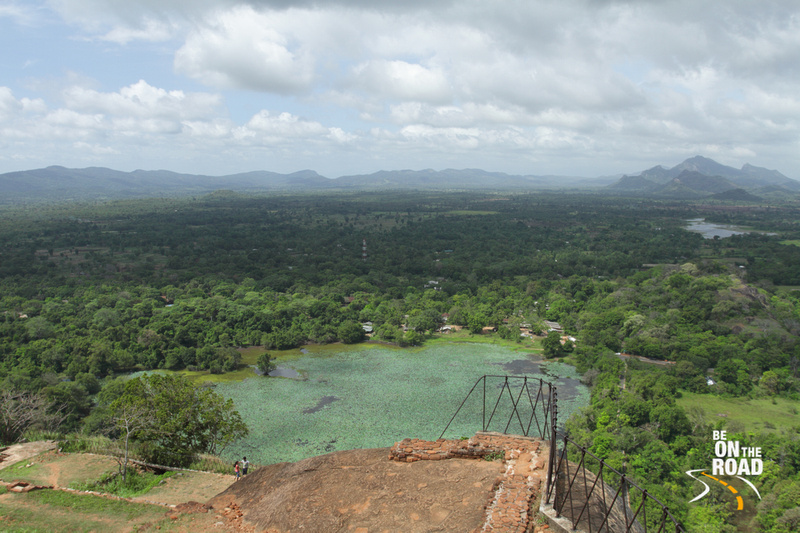 The lake of water lilies as seen from the top of Sigriya Rock, Srilanka