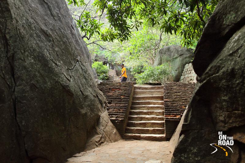 The climb to the top of Sigriya rock, Srilanka