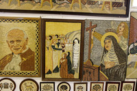 Wall of Mosaics in a shop at Madaba, Jordan