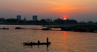 A classic Mekong river sunset moment from Phnom Penh, Cambodia