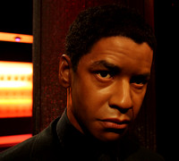 Lifelike Wax Statue of Denzel Washington