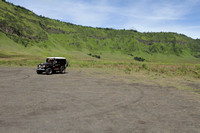 Toyota Land Cruiser in the savannahs of Bromo