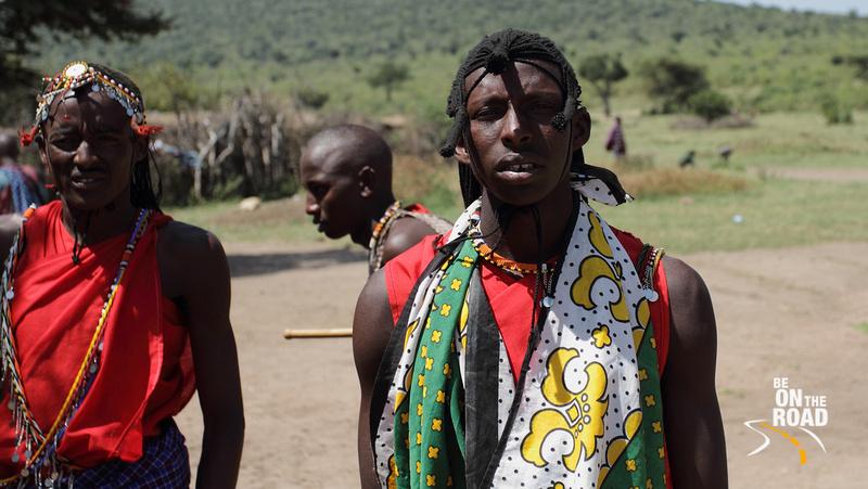 Decked up Maasai warriors