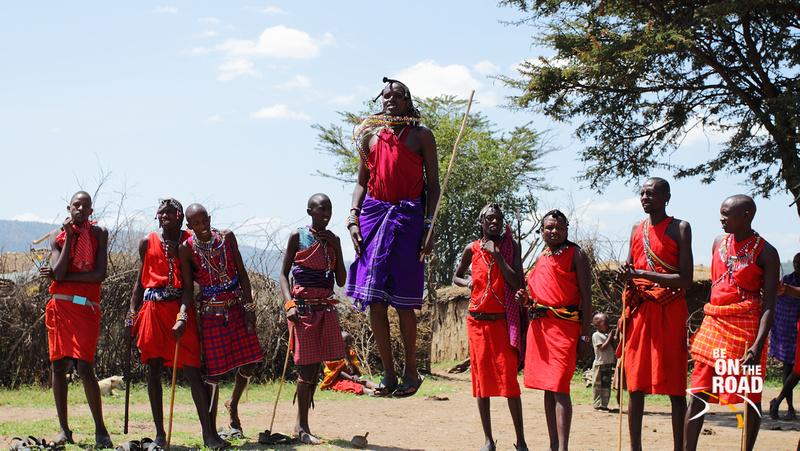Traditional Maasai dance called Adumu
