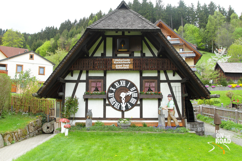 The world's largest cuckoo clock at Schonach, Black Forest, Germany