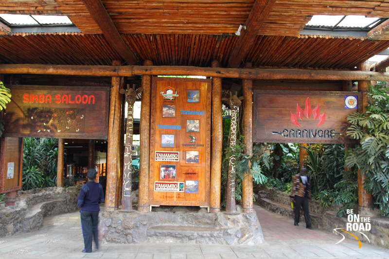 Entering the Carnivore Restaurant - the place that is top one every tourist's list especially if they are meat eaters