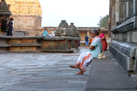 Deep in thought - a Devotee at Chennakeshava temple, Belur, Karnataka