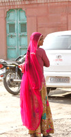 The colorful attire of local Rajasthani women