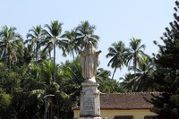 Statue dedicated to the sacred heart of Jesus, Old Goa