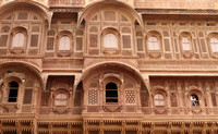 The beautiful Jharokas of Mehrangarh Fort, Jodhpur