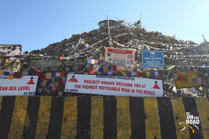 Khardungla - one of the highest motorable road in the world. The Highest in India is Marsimek La