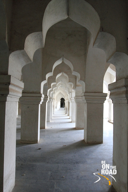 A line of beautifully designed corridor arches