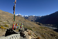 Rich Himalayan view from the top of Dhankar Monastery