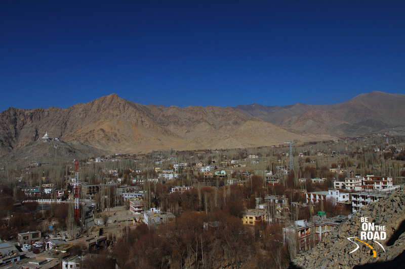 Leh city from on top of Leh palace