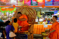 Kid gets blessing at Phra Pathommachedi, Nakhon Pathom, Thailand