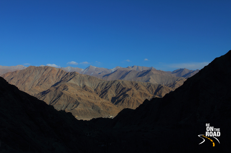The barren Himalayas as seen from Hemis Monastery