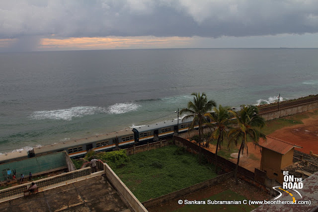 The Colombo-Galle railway line runs parallel to the coastline - as seen from from my hotel room
