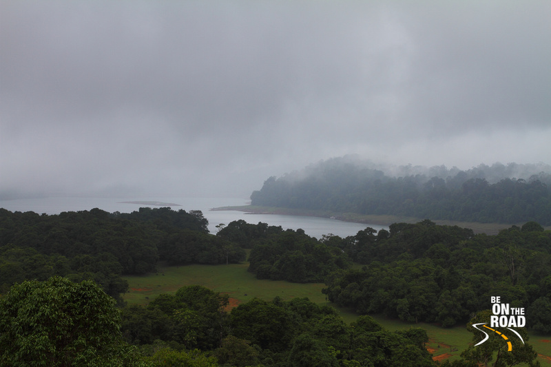 Poringalkuthu Reservoir as seen from the Vazhachal ghat roads