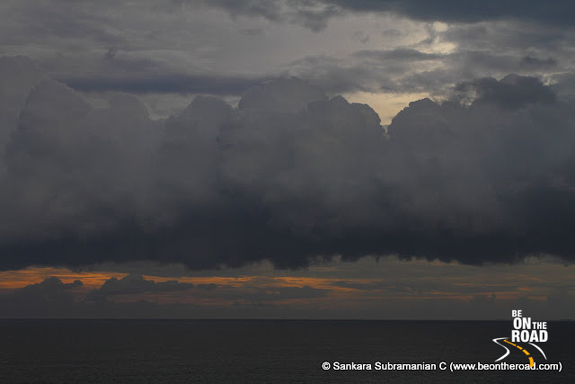 Clouds form over the Indian Ocean - as seen from my room facing the open seas