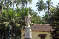 Statue of Jesus opposite Se Cathedral, Old Goa, India