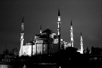 Istanbul Sultanahmet Blue Mosque at night