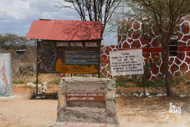 Milestone Marker at the entrance to Samburu National Reserve
