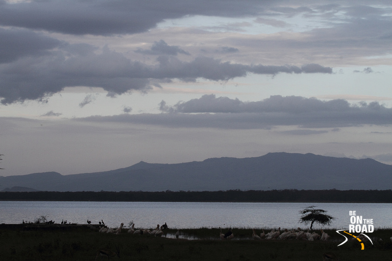 Blue hues of the evening sky at Lake Nakuru