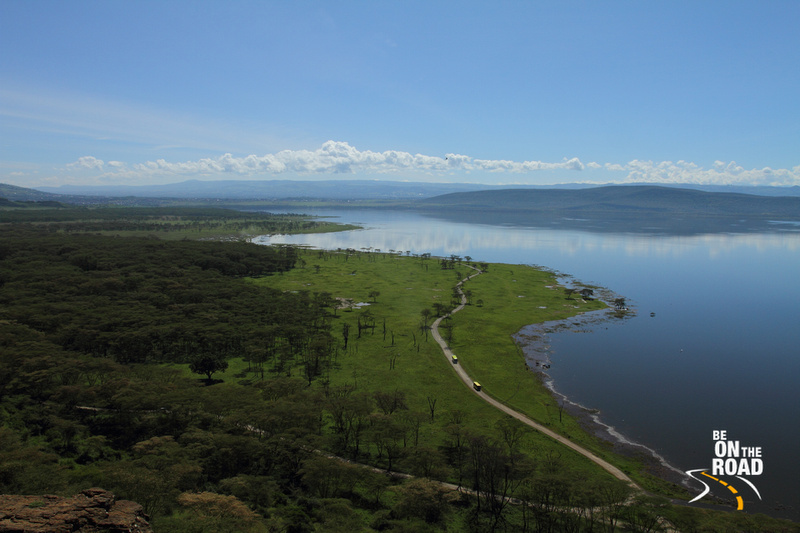 Stunning Lake Nakuru landscape from Baboon's cliff view point