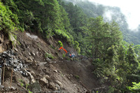 Landslide enroute from Banaue to Batad, Philippines