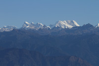 Panoramic view of some of Bhutan's tallest mountain peaks at Dochu La