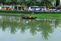 A different perspective of Hoi An while floating down the river