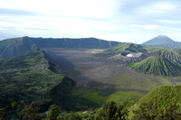 Bromo crater and its volcanic lake, Indonesia