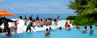 Foam party by the pool at Club Med Resort - Kani, Maldives