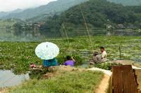 Fishing at Phewa Lake, Pokhara, Nepal