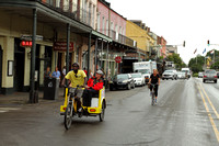 Pedicab from the French Quarter of New Orleans