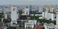 Jakarta aerial view from Monument Nasional