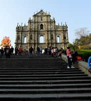 Ruins of St Paul's church - one of the top attractions of Old Macau cultural trail