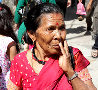 Surprised Woman on the streets of Kathmandu