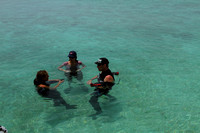 Cooling off in the waters around Damaniyat Islands. Oman