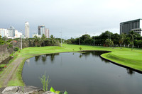 Golf course in Intra Muros area of Manila, Philippines