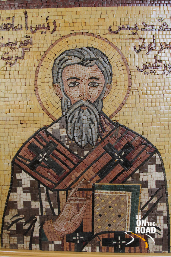 BE ON THE ROAD Travel Photography | Sankara Subramanian C: Madaba &emdash; Mosaic on the walls of St George's Church, Madaba, Jordan