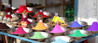 Myriad of colors on sale in front of Raja Ram Temple, Orchha, Madhya Pradesh