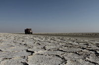 The salt desert highway of Maranjab, Iran