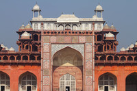Indo-Islamic architecture of Akbar's Tomb at Sikandra, Agra