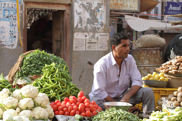 At the local vegetable market of Bikaner, Rajasthan