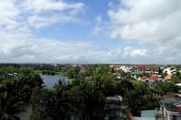 Roof top view of scenic Hoi An, Vietnam