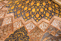 Beautiful work on the ceiling of Akbar's Tomb, Sikandra, Agra
