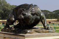 Bronze statue of tiger at Mysore Palace