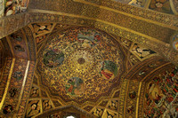 Intricate ceiling work at Vank Cathedral, Isfahan